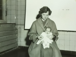 1955 With Mom - Passport Photo